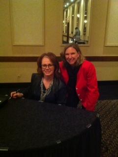 2014< March 19 Jayne with Arlene Dickenson, Dragons's Den